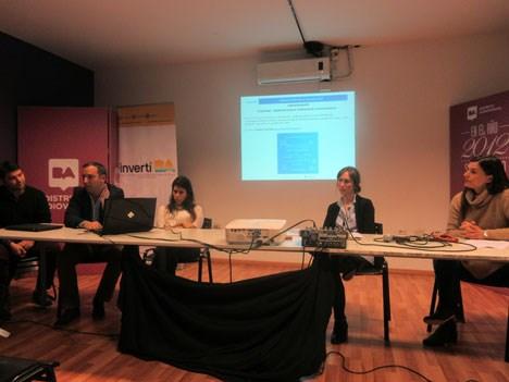 Fernando Balaguer, de Invest BA; Juan Marcos Melo, Michelle Wasserman (Kuarzo Endemol), Elena Anotini (Dori Media) y Claudia González (DA)