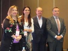 Patricia Stanley de Dinapi Paraguay, Virginia Cervieri de la Cámara contra la Piratería de Uruguay, Sergio Veiga de Fox, y Sergio Piris de Cablevisión