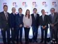 Jorge Acosta, Gerente General NTC, James McNamara, Hemisphere Media Group; Felipe Boshell; Ángela María Mora, Directora ANTV; David Luna, MinTic; Alla