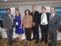 El panel inaugural de Andina Link 2016: Edwin Estrada, viceministro Micitt, Luz Marina Arango, Saray Amador, de Canartel, Marcelo Jenkins, Gabriel Lev
