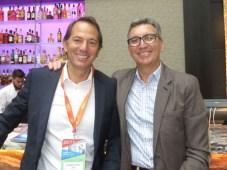 Eduardo Stigol de Inter y Carlos Molitini de Cablevisión