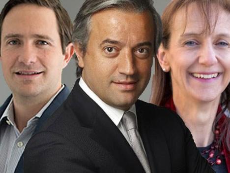 Benjamin Salinas Sada, Dominique Delport y Claire Bury