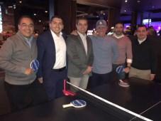 Emerson Sampaio y su equipo de Megacabke con Anado Quintanilla en la fiesta de Rincón en Lucky Strike en Denver