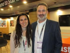 Jimena Hernandez, content director, Mediapro, & Martin Halac, SVP Content & Production, Imagina USA