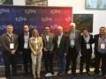 Premio al capítulo CALA con Hernan Benavidez de LibertyVTR, Roberto López de Cabelvisión y Rolando Barja, de Cotas, que lo preside. Lo entregó Jorge S