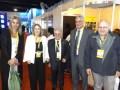 Adriana Médici de CAPPSA, Pilar Orge Sánchez y Ricardo Solari de Caper, Walter Burzaco de ATVC y Rodolfo Hermida de INCAA
