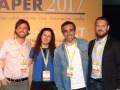 Mariano D'Ortona, Laura Puricelli, Gabriel Basabe y Gustavo Fracassi