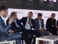 Ariel Barlaro, de Dataxis; Carlos Martínez, de FNG; Eduardo Stigol, de Inter; Luciano Marino, de Millicom; y Carlos Moltini, de Cablevisión, en NexTV CEO 2016