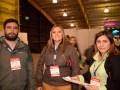 Daniel Bernate, gerente comercial, y Carolina Vargas, ejecutiva de negocios, de Videocorp, con Diana Caicedo, de Proyectores & Pantallas Led