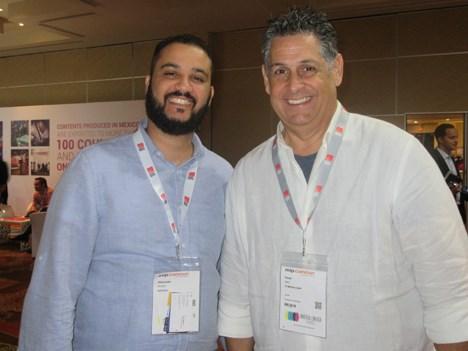 Alexander Pérez, Director de contenidos de Novazul Entertaiment (República Dominicana), junto a César Diaz, CEO de A7 Media