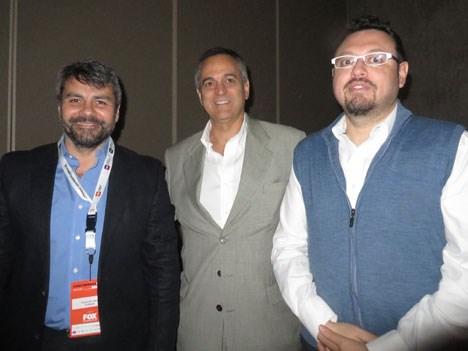 Alejandro Neri, Daniel Malaiu y Ricardo Lemos de CDF