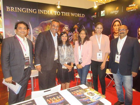 India was one of the top markets this ATF: Debkumar Dasgupta, SVP, Digital, Sonal Gupta, director, new media, and Keerthana Anand, manager, Indiacast-Viacom18 with Pramod Malviya, manager, God TV, Pallav Nagar, founder and president, Media Konnects, and Sonika Bhasin, executive director, South Asia, Sony Pictures India