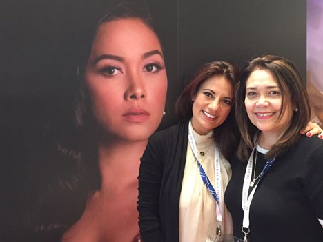 Martha Contreras, business development in Asia Pacific for Comarex (Mexico) and Macie Imperial, OIC-Head integrated program acquisitions and distribution, ABS-CBN (The Philippines) announced its first partnership to initiate a co-production between both companies by the beginning of 2018