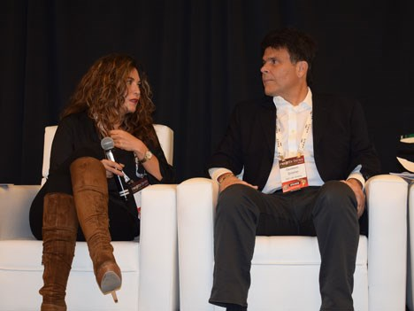 Sofía Higuera, SVP y General Manager Cono Norte de Fox, y Gustavo Grossman, CVP of Networks de HBO