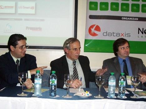 Juan Manuel Bareto, Luis Piñeiro y Luis Tombo participaron del panel de proveedores de STB