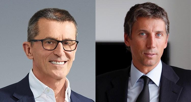 Marco Bassetti, director ejecutivo, y Stéphane Courbit del fondo LDH, controlante mayoritario de Banijay Group