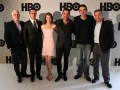 Roberto Ríos (HBO), los actores Tony Dalton y Nailea Norvind, Billy Rovzar (Lemon Films), Fernando Rovzar (Lemon Films) y Luis F. Peraza (HBO)