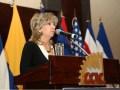 Luz Marina Arango, de TDC Events, en el acto de inauguración