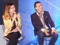 Celina Rossi y Christian Pantaleon en la presentación de Turner en Buenos Aires