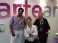 Adrián Suar, director de programación de El Trece y director artístico de Pol-ka, Eduardo Fernández, gerente de producción de El Trece, y Pablo Codevi