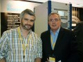 Mauricio Franco, gerente de ingeniería y transmisión de Telefe Argentina, junto a Juan Carlos Guidobono, consultor en AIMIM.NET