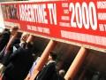 Una de las gigantografías de Argentine TV, que llamaron mucho la atención en el reciente Mipcom de Cannes