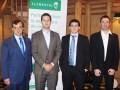 Eduardo De Nucci y Sergio Goncalves Silva con su equipo para la región