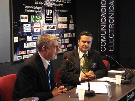 Luis Lázaro, coordinador de planificación Estratégica de AFSCA, y Luis Valle