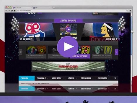 Chile: Canal del Fútbol transmite por Internet - Televisión