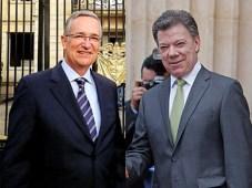 Ricardo Salinas, titular de Azteca, y Juan Manuel Santos, presidente de Colombia