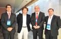 Jose Ignacio Alvear, director legal DirecTV Chile; Julio López, gerente general DirecTV Chile, Galeno Ferreira, security officer de Nagra; y Martín Be