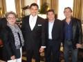 Fefi Toll y Frank Bedoya con Ricardo Herranz