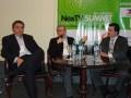 Gustavo Lapid, CEO, IP-Tel; Dario Oliver, Gerente General, Telpin; y Mauricio Benitez, Gerente General, Cotecal