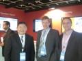 Marcos Takanohashi, VP de ventas regional; Luciano Lazzari, Country Manager de Argentina, y Diego Rubio director de ingeniería y Site General Manager