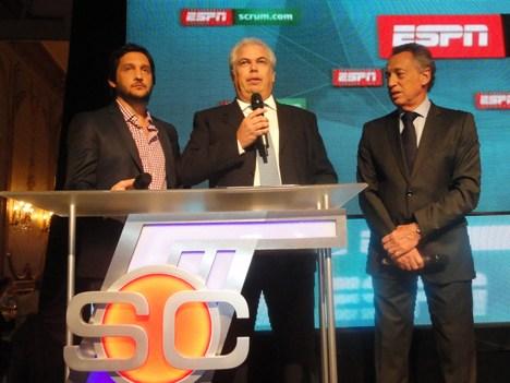 ESPN UpFront 14 Guillermo Tabanera (centro) con Germán Pavlovsky y Quique Wolff
